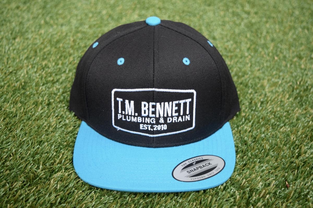 black/blue hat